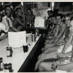 Hms Cassandra Xmas day 1961 in Hong Kong.