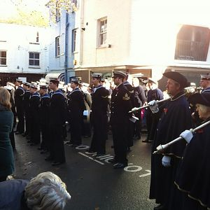 Rememberance Service 11/11/2012 HMS Dragon