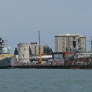 Type 42 destroyers awaiting disposal at Portsmouth 31 July 2014