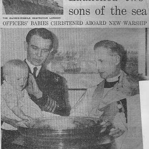 Christening aboard HMS London 1964