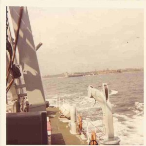 ileaving the Tyne, July 1975.