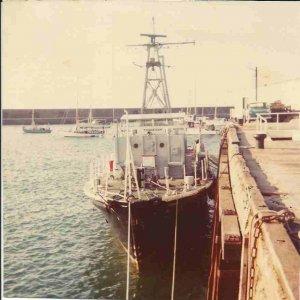 X.S.V. Thakeham at Braye pier Alderney June 1976