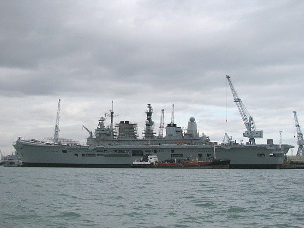 HMS Ark Royal at Portsmouth 12 Aug 09