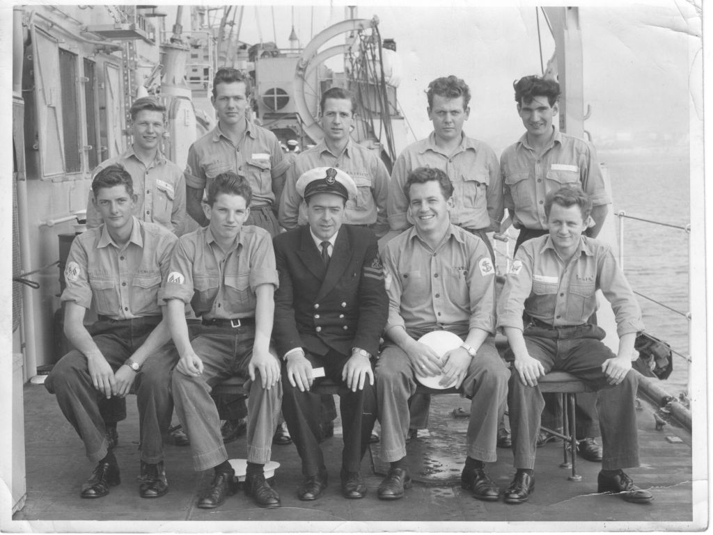HMS Falmouth .. some of the Comms personnel 1962