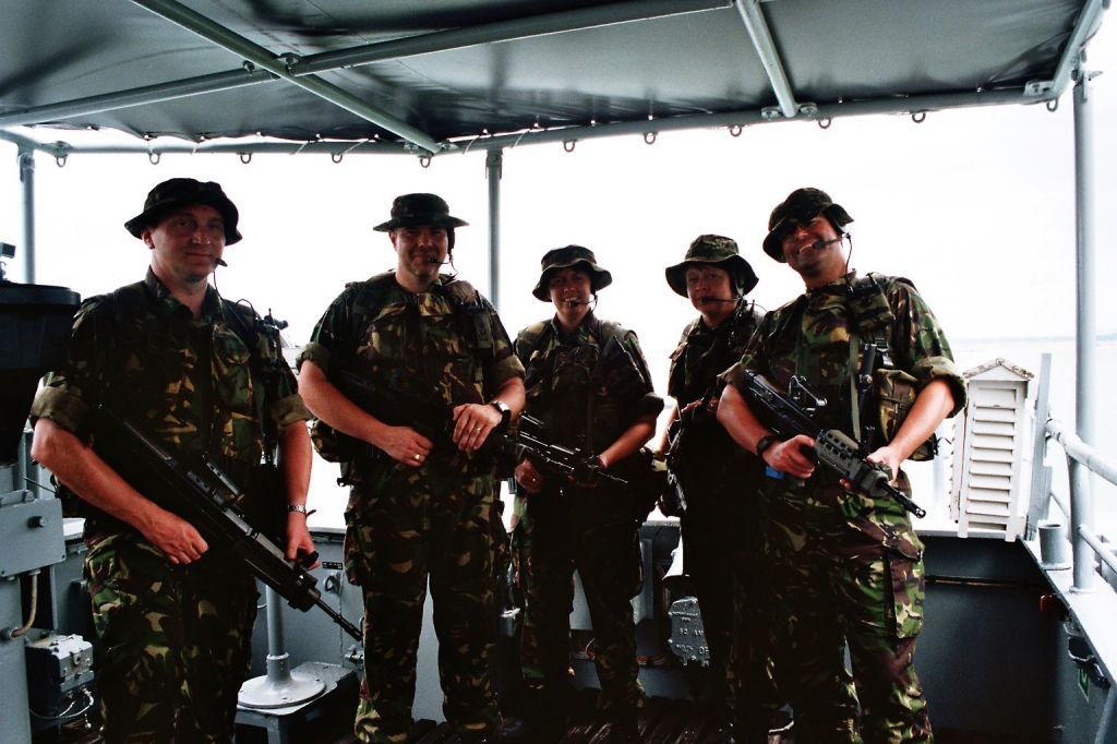 THE STARBOARDERS. FORCE PROTECTION TEAM.RFA BAYLEAF. OP TELIC